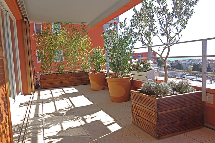 Am nagement terrasse balcon jardinier paysagiste s te for Terrasse amenagement plantes